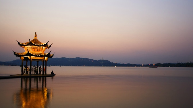 Pagoda in the water